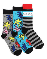 DRJ SOCK SHOP - 3 Pack Murals Crew Socks-2412859