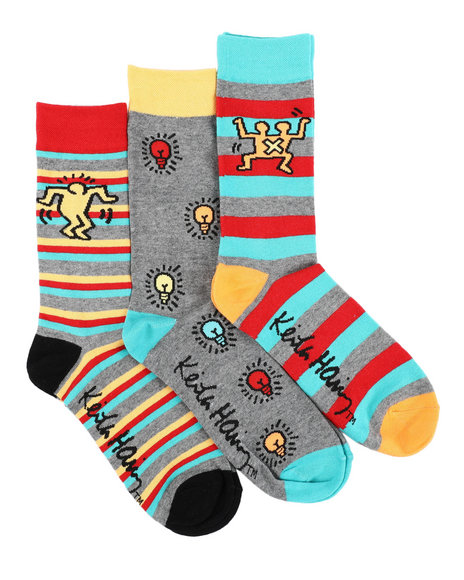 Keith Haring - 3 Pack Lightbulb Crew Socks