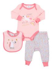 Duck Duck Goose - 3 Piece Knit Set W/ Bib (Infant)-2410723