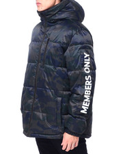 Men - QUILTED HOODED PUFFER JACKET W SLEEVE HIT-2413024