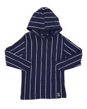 Phat Farm - Hooded Long Sleeve Stripe Print Tee (4-7)-2408271