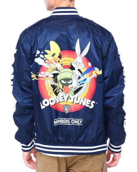 Members Only - LOONEY TUNES SLEEVE LOGO BOMBER JACKET
