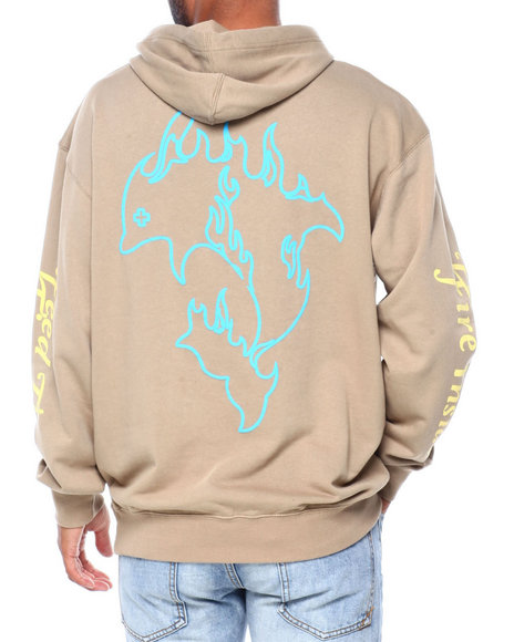 Pink Dolphin - FUEL FOR FIRE HOODIE