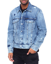 Athleisure for Men - FOUNDATION DISTRESSED TRUCKER JACKET-2407766