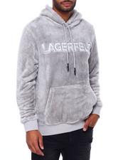 KARL LAGERFELD PARIS - Double Face Sherpa Logo Hoodie-2412543