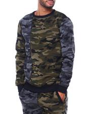 Sweatshirts & Sweaters - SPLIT CAMO CREWNECK SWEATSHIRT-2413618