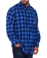 Izod - L/S Flannel Shirt (B&T)-2414166