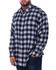 Izod - L/S Flannel Shirt (B&T)-2414187