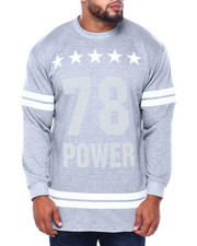 Big & Tall - Men's French Terry Graphic Pullover (B&T)-2413419
