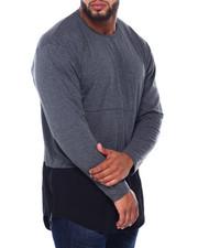 Men - Men's Round Bottom Color Block Tee W/ Zipper (B&T)-2412908