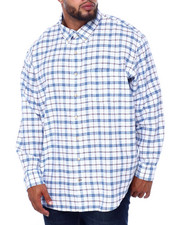 Izod - L/S Indigo Windowpane Varsity Plaid (B&T)-2414692