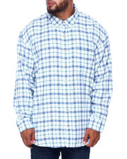 Izod - L/S Indigo Windowpane Varsity Plaid (B&T)-2414624
