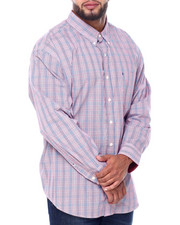 Izod - L/S Premium Essentials Glen Plaid Woven (B&T)-2414593