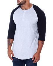 Buyers Picks - Men's 3/4 Raglan Sleeve Henley T-Shirt (B&T)-2413410