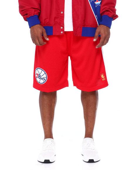 Mitchell & Ness - 76ers Swingman Shorts (B&T)