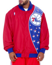Mitchell & Ness - 76ers Nylon Jacket (B&T)-2413423