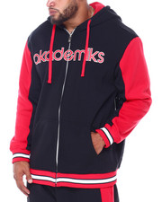 Akademiks - Stripe Zip Front Hoody (B&T)-2413473