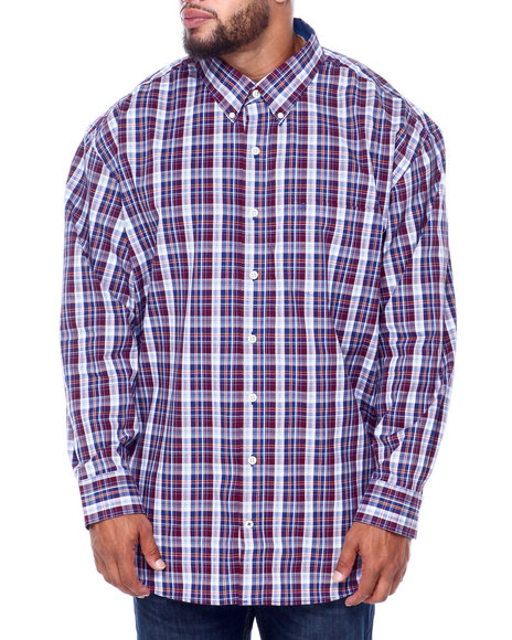Izod - L/S Premium Essentials Plaid Woven (B&T)