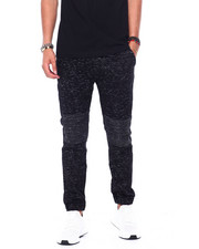 Joggers - PRINTED SPACE DYE MOTO TWILL JOGGER-2414021