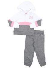Girls - DKNY 2PC Hoodie & Track Pants Set (4-6X)-2408262