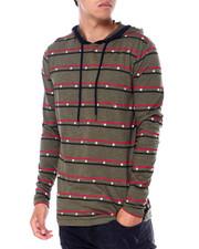 T-Shirts - STAR STRIPED LS KNIT HOODIE-2414038