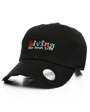 Dad Hats - Living My Best Life Vintage Dad Hat-2411884