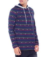 T-Shirts - STAR STRIPED LS KNIT HOODIE-2414068