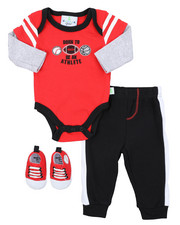 Duck Duck Goose - 3PC Sporty Knit Set W/ Sneakers (Infant)-2410699