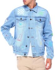 Denim Jackets - Savage Doodle Denim Jacket-2414746