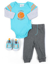 Duck Duck Goose - 3PC Sporty Knit Set W/ Sneakers (Infant)-2410695