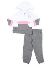 Girls - DKNY 2PC Hoodie & Track Pants Set (2T-4T)-2408258