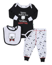 Duck Duck Goose - 3 Piece Knit Set W/ Bib (Infant)-2410715