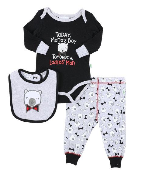 Duck Duck Goose - 3 Piece Knit Set W/ Bib (Infant)