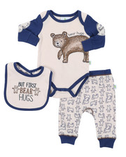 Duck Duck Goose - 3 Piece Knit Set W/ Bib (Infant)-2410711