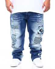 Jeans - Premium Wash With White Paint Detail Jean (B&T)-2406776