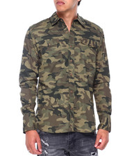 Button-downs - TED CAMO LS BUTTONFRONT SHIRT-2414074