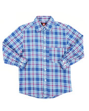 Button-downs - Yarn Dyed Plaid Woven Shirt (8-18)-2414521