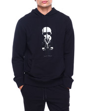 KARL LAGERFELD PARIS - Big Karl w Necklace Hoodie-2415336