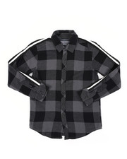Button-downs - Long Sleeve Flannel Shirt (8-20)-2413518