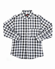 Button-downs - Yarn Dyed Plaid Woven Shirt (8-18)-2414526