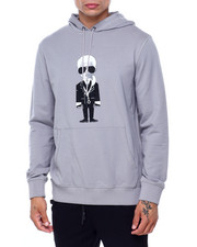 KARL LAGERFELD PARIS - Big Karl w Necklace Hoodie-2415328