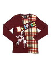 SWITCH - Graphic Long Sleeve Tee W/ Patches (8-20)-2412870