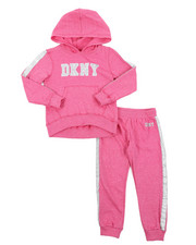 Girls - DKNY 2PC Hoodie & Track Pants Set (4-6X)-2406498