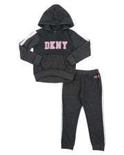 Girls - DKNY 2PC Hoodie & Track Pants Set (4-6X)-2406493