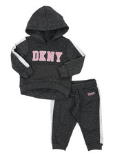 Girls - DKNY 2PC Hoodie & Track Pants Set (Infant)-2406488