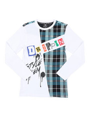 SWITCH - Graphic Long Sleeve Tee W/ Patches (8-20)-2412875
