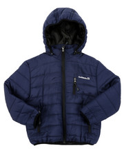 Light Jackets - Ultra Light Poly Filled Puffer Jacket W/ Detachable Hood (4-7)-2412865