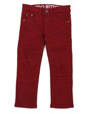 Arcade Styles - Stretch Denim Moto Jeans (4-7)-2415059