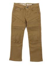 Arcade Styles - Stretch Denim Moto Jeans (4-7)-2415021