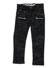 Arcade Styles - Stretch Denim Moto Jeans W/Zipper (4-7)-2415068